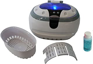Sonic Wave CD-2800 Ultrasonic Cleaner, 1.3 Pt/0.6 L, 110V, White, Including iSonic Jewelry/Eye Wear Cleaning Solution Concentrate, 1OZ Sample