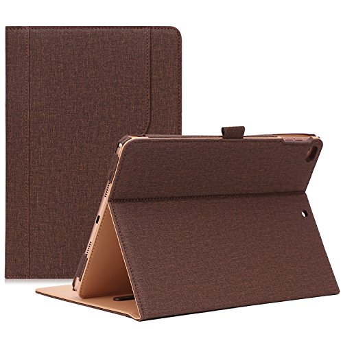ProCase iPad 9.7 Case 2018/2017 iPad Case - Stand Folio Cover Case for Apple iPad 9.7 inch, Also Fit iPad Air 2 / iPad Air -Chocolate
