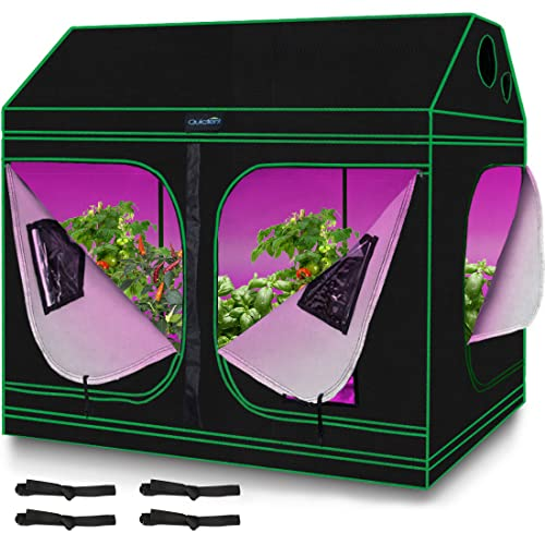 Quictent 8x4x6 ft Grow Tent 96'x48'x71' Roof Cube Mylar Hydroponic Plant Growing Tents with...