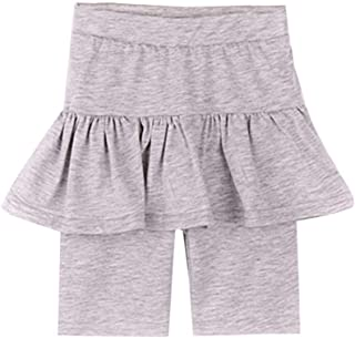 Weixinbuy Kids Girls Capri Leggings in Stretch Jersey Comfy Summer Tutu Tight Leggings Pants