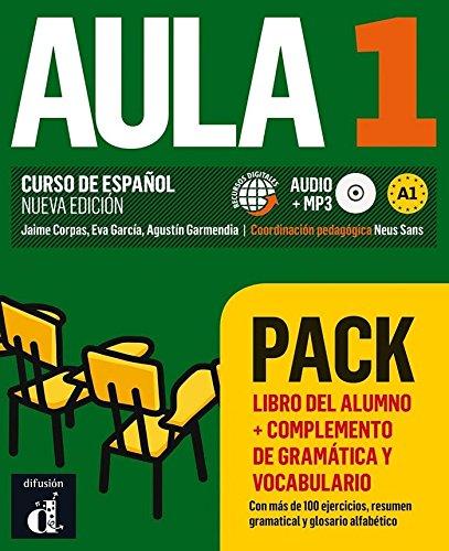 Aula 1 Pack Libro del alumno+complemento de gramática y vocabulario: Aula 1 Pack Libro del alumno+complemento de gramática y vocabulario