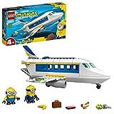 LEGO Minions L'addestramento del Minion Pilota, Aereo Giocattolo Costruibile con Bob e Stuart, Giocattoli per Bambini di 4+ Anni, 75547