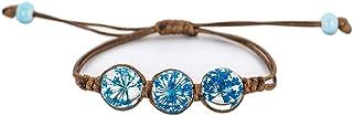 IDesign epoxy Resin Bangle Bracelet for Women Flowers Bracelet Wood Bangle Bracelet Risen Bracelet Hinged Bangle Hawaiian Jewelry
