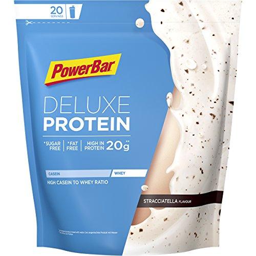 PowerBar DELUXE Protein Stracciatella 500g - High Protein Whey Pulver - Zuckerfrei und Fettfrei