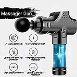 HJKPM Muscle Massage Gun, Vibrazione Rilassante Massaggiatore di Fitness con Valigia E 6 Teste di Massaggio,Grigio