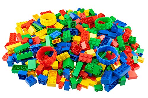 Building Bricks /& Baseplates Ages 3+ Large Pegs for Toddlers Clear Green Tower Construction Strictly Briks Classic Big Briks 96 Piece Set 100/% Compatible with All Major Brands