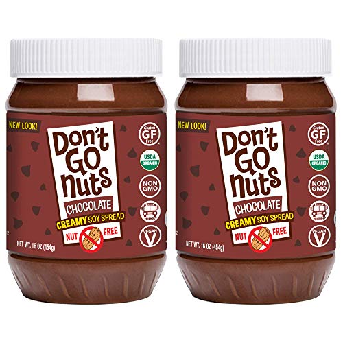 Don't Go Nuts Roasted Soybean Spread, Chocolate, 2 Count, Nut-Free Non GMO Organic