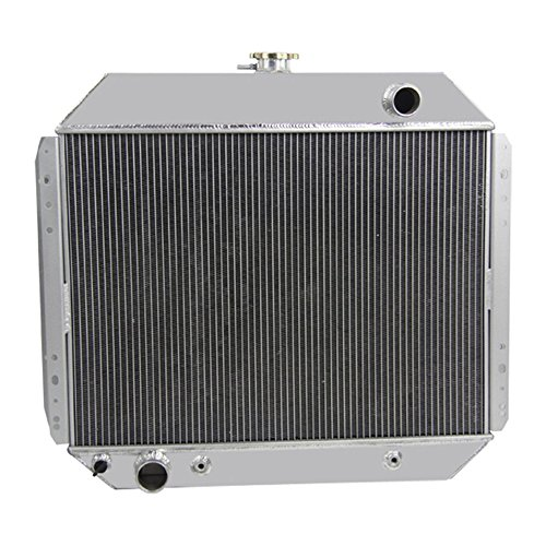 OzCoolingParts 66-79 Ford F-Series Radiator, 4 Row Core All Aluminum Radiator for 1966-1979 1968 1970 75 76 Ford Bronco F-100 F-150 F-250 F-350 Pickup Truck L6 V8 Engines