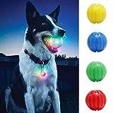 N-brand PULABO U0026 Juguete para perros para masticar en la oscuridad, bola de luz, juguete interactivo, necesidades para animales domésticos, color amarillo S, elegante y popular