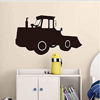 MRQXDP Bulldozer Excavator Tractor Wall Sticker PVC Waterproof Art Vinyl Wallpaper for Kids Rooms Home Decor Living Room 59x35cm Wandaufkleber Wand Dormitory Wall