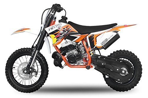"Dirtbike 49cc NRG 50 12""/10"" RS Neues Design Cross Pocket Bike ATV Kinderfahrzeug (Orange)"