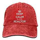 ASKYE Keep Calm I'm Your Realtor Polo Style Classic Baseball Dad Hat For Women and Men