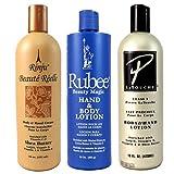 Rubee, Pierre La Touche & Rinju Beaute Reelle Lotion 16 oz. (Set of 3) with a free Rinju Lotion 2 oz bottle