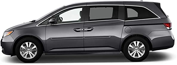 Dawn Enterprises CI2-ODYSSEY11 Color Insert Body Side Molding Compatible with Honda Odyssey - Dark Cherry Pearl (R529P) with Black Insert (02)