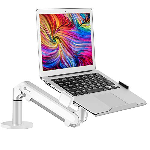 Height Adjustable Single Gas Spring Laptop Arm Mount Support 12-17.3 inch Laptop/Notebook