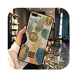 Carcasa de silicona dorada para iPhone 11 Pro Xs Max X XR 6 6S 7 8 Plus SE purpurina Girly Flower Dream textura cepillada funda suave Case D09-For i7 Plus i8 Plus