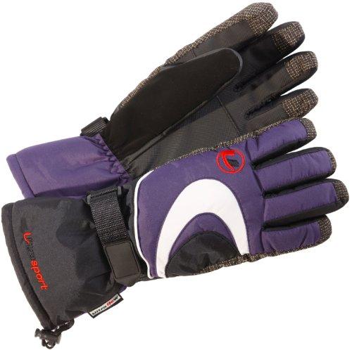 Ultrasport Damen Skihandschuhe, lila, L, 46706