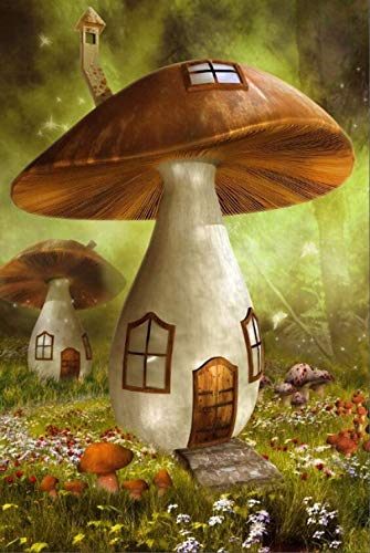 HULLYZ 1000 Piece Jigsaw Puzzles for Adults Abstract Mushroom Oil Painting Puzzles Toys for Adult Children Wooden Assembly Puzzle Finish Size 75x50CM DIY Games Kits Best Home Decoration