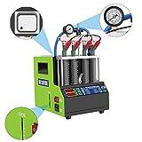 MR CARTOOL V308 Automotive 4 cilindri Tester per Pulizia iniettori a Onde ultrasoniche, detergenti per sistemi di Pulizia iniettori Carburante per Auto Macchine Utensili per Pulizia Auto (220 V)