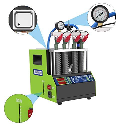 V308 Automotive 4 Cylinder Ultrasonic Wave Injector Cleaner Tester, Car Fuel Injector Cleaner Systems CleanersCar Cleaning Machine Tools, Ultrasonic Cleaning Tool (110V)