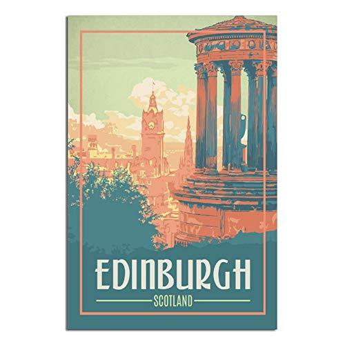 RMBDD Vintage Viajes Carteles Edimburgo Escocia pared arte lienzo impresiones Familia moderna oficina dormitorio cuadro enmarcado regalo decorativo pintura carteles