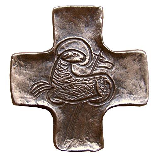 Wilde Bronzekreuz Bronze Kreuz Lamm Gottes Kommunion 9 cm * 8 cm