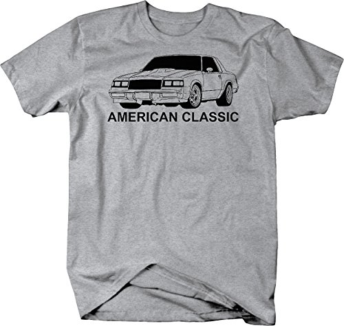 American Classic Buick Regal Grand National Graphic T Shirt for Men Large Heather Grey