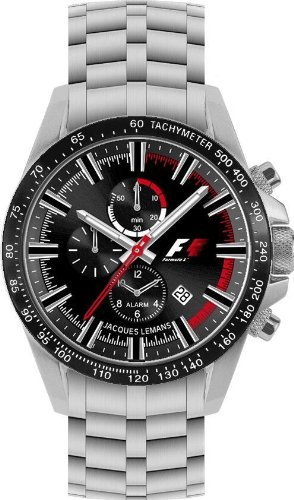Jacques Lemans Formula 1 Herren-Armbanduhr Alarm-Chrono F-5007S