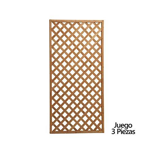 PAPILLON 8043000 Juego de Paneles Celosia Rectangular Madera 180x90 cm (3 Piezas)