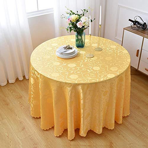 Yinaa Mantel para Mesa de Fácil Limpieza Resistente a Rayones y Resistente Al Desgaste Manteles Estampados Antimanchas Círculo Dorado Diámetro 240cm