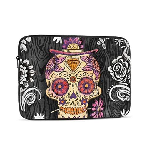 MacBook Pro Accessories Portfolio Canvas Decor Sugar Skull Daisy by Geoff MacBook Pro Laptop Cover Multi-Color & Size Choices10/12/13/15/17 Inch Computer Tablet Briefcase Carrying Bag