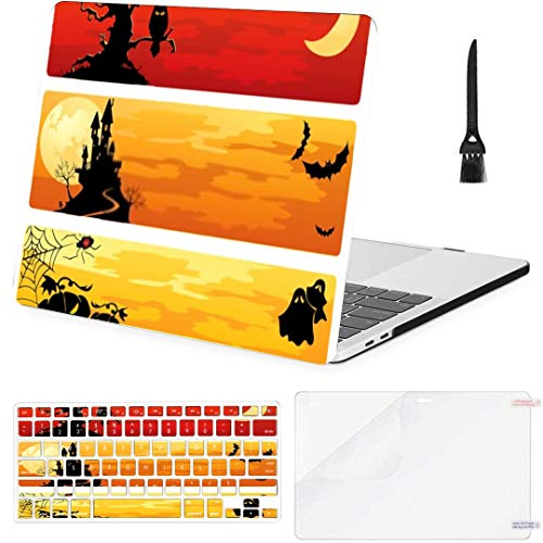 MacBook Pro13 inch Retina (2012-2015) with Retina Display,1502,A1425 Case Halloween Banners MacBook Case with Keyboard Cover Screen Protector Cleaning Brush