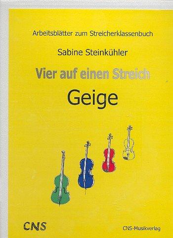 Vier auf einen Streich: Arbeitsblätter Violine