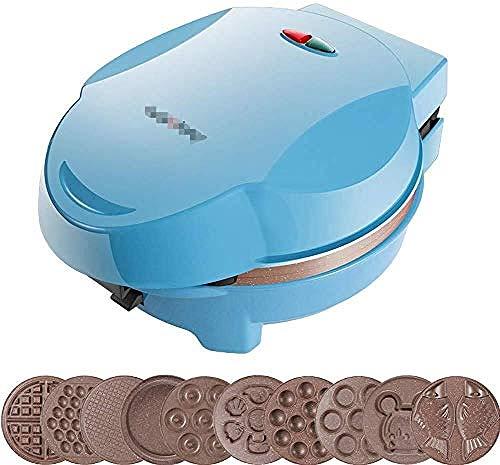 Mini-wafelijzer, multifunctionele thuisontbijtmachine, tosti-ijzer, met 9 verschillende soorten setplaten, draagbaar nodig voor op reis