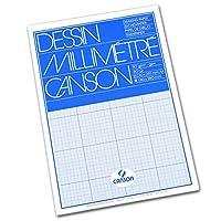Canson mm Dessin グラフパッド A4 ブルーグリッド
