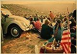 PCCASEWIND Leinwanddrucke,Woodstock Rock Poster,Wandkunst