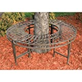 EttansPalace Gothic Roundabout Steel Garden Bench