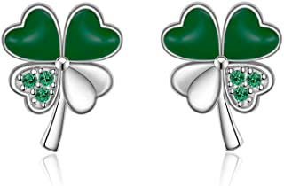 Details about  /Earrings Ladies Sterling Silver Stud Earrings Clover Silver 925 Rose Gold New