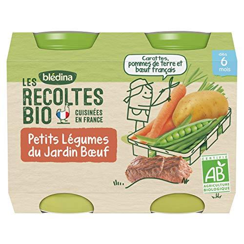 Blédina - Biologique - Les Récoltes Bio 12 petits pots Légumes du Jardin Bœuf dès 6 mois (Pack de 6x2 pots)