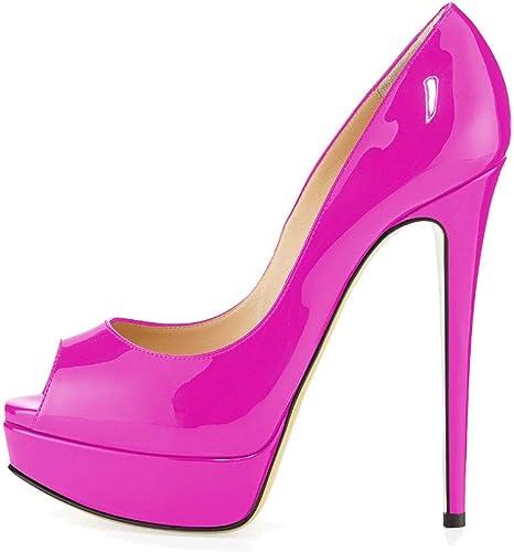 MKJPO Sandales, Bouche de Poisson Confortable et antidérapante, Plateforme imperméable, Chaussures pour Femmes (Couleur   G, Taille   44donglu)