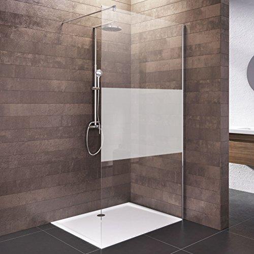 Schulte Duschwand Walk In, 120 x 200 cm, 6 mm Sicherheitsglas (ESG) Dezent, Chromoptik, Dusche vom deutschen Markenhersteller