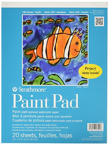 Strathmore 27-209 100 Series Youth Paint Pad, 9'x12' Tape...