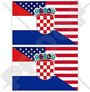 CROATIA SCUBA DIVING Flag-Croatian Map Shape Rectangular Stickers Decals 75mm x2