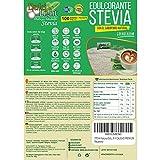 EDULCORANTE STEVIA DULCILIGHT 100 sobres, Natural granulado con fibra Vegetal|1gr = 10gr de azúcar| EL Sabor, la textura y el Sonajero del azúcar LIBRE de calorías