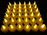 Flameless LED Tea Light Candles, Vivii Battery-Powered Unscented LED Tealight...