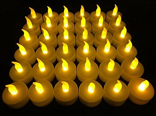 Flameless LED Tea Light Candles, 36 PK Vivii Battery-Powered Unscented LED Tealight Candles, Fake...