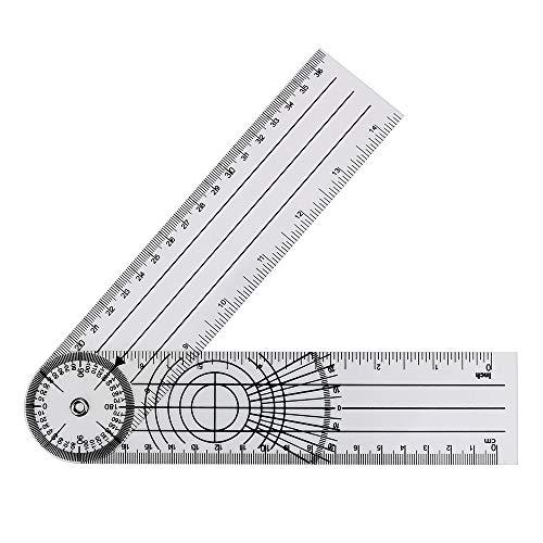 360-Grad-Drehwinkel Medical Spinal Lineal Messwerkzeug Multifunktions-Goniometer Goniometer Winkelmesser