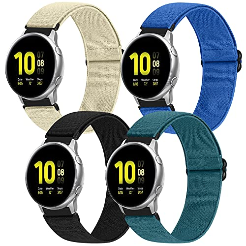 Beatlone 20mm Nylon Elastic Watch Band Compatible for Galaxy Watch 3 41mm/Galaxy Watch 42mm/ Garmin Vivoactive3/Galaxy Watch Active2 40mm 44mm , Soft Sport Replacement Strap Wristbands for Women Men