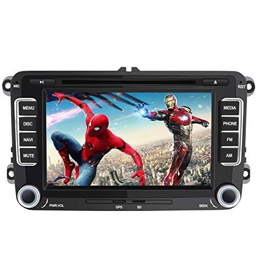 Autoradio pour VW de Voiture stéréo 7 Pouces 2 Din HD Bluetooth Navigation GPS stéréo DVD CD Radio Carte SD USB Multimédia Player