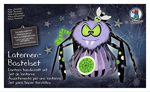 Ursus 18720009F Bastelset, Tarantula, Set zum Basteln Einer Laterne, für Kinder, inklusive Bastelanleitung, ideal für den nächsten Laternenlauf, mehrfarbig, one size